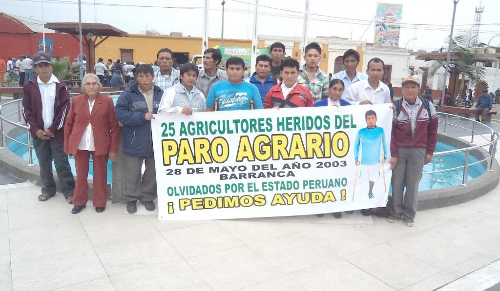 Heridos denuncian a altos mandos militares por sucesos durante el paro agrario del 2003 en Barranca