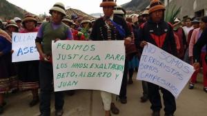 Campesinos en Las Bambas. Foto: Juan Huayhua