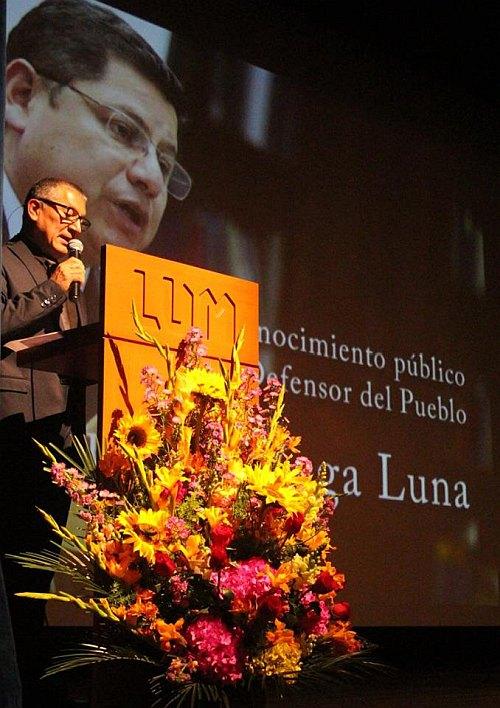 Discurso de Jorge Bracamonte, Secretario Ejecutivo de la CNDDHH, en ceremonia de reconocimiento a Eduardo Vega Luna por su labor al frente de la Defensoría del Pueblo. LUM, martes 27 septiembre 2016.