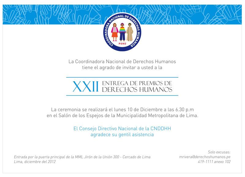 CNDDHH celebra la Declaración Universal de DDHH con Premiación Anual 2012